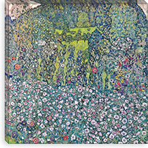 Gustav Klimt Garden Landscape on the Hill By GustavKlimt Canvas Print #14043