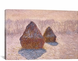 Haystacks (Effect of Snow and Sun) 1891 By Claude Monet Canvas Print #1030