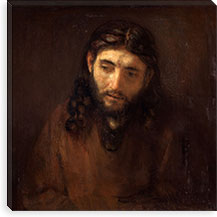 Head of Christ By Rembrandt Canvas Print #14125