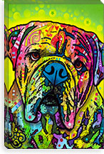 Hey Bulldog By Dean Russo Canvas Print #4252