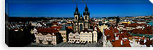 High angle view of a cityscape, Prague Old Town Square, Old Town, Prague, Czech Republic #PIM5498