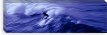 High angle view of a person surfing in the sea, USA #PIM6885
