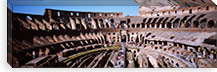 High angle view of tourists in an amphitheater, Colosseum, Rome, Italy #PIM4067
