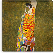Hoffnung ll (The Hope ll) By Gustav Klimt Canvas Print #14031