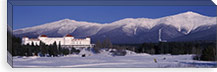 Hotel near snow covered mountains, Mt. Washington Hotel Resort, Mount Washington, Bretton Woods, New Hampshire, USA #PIM1634