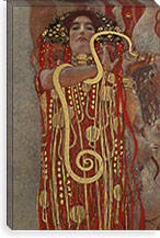 Hygieia (Detail from the Medicine) By Gustav Klimt Canvas Print #14036