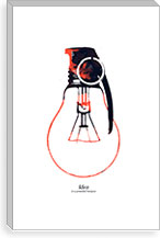 Idea Is A Powerful Weapon By Budi Satria Kwan Canvas Print #13858