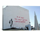 If First You Don't Succeed Call Airstike By Banksy Canvas Print #2151