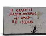 If Graffiti Changed Anything By Banksy Canvas Print #2148