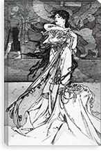 Illustration from Rama (1898) By Alphonse Mucha Canvas Print #15187
