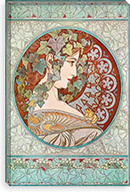 Ivy, 1901 #2 By Alphonse Mucha Canvas Print #15211