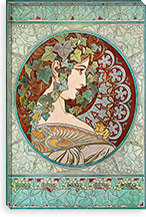 Ivy (1901) By Alphonse Mucha Canvas Print #15160