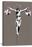 Jesus Christ With Shopping Bags By Banksy Canvas Print #2068