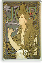 Job, 1896 By Alphonse Mucha Canvas Print #15194