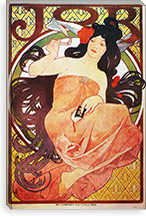 Job, 1898 #2 By Alphonse Mucha Canvas Print #15277