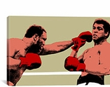 Joe Frazier Throwing Punch at Muhammad Ali, 1975 Canvas Print #10024