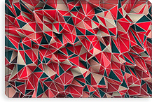 Kaos Red By Maximilian San Canvas Print #MXS11