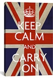 Keep Calm and Carry on (british Flag) Canvas Print #5023