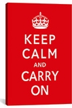 Keep Calm and Carry on Canvas Print #5022