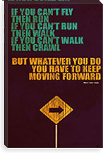 Keep Moving Forward By Budi Satria Kwan Canvas Print #13808