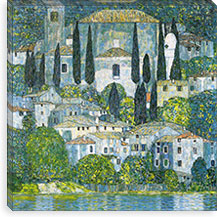 Kirche in Cassone (Chruch in Cassone) By Gustav Klimt Canvas Print #14034