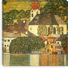 Kirche in Unterach am Attersee (Church in Unterach on Lake Attersee) By Gustav Klimt Canvas Print #14035