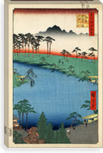 Kumanoj Nisha Shrine, 1856 By Utagawa Hiroshige l Canvas Print #13655