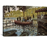 La Grenouillere 1869 By Claude Monet Canvas Print #1032
