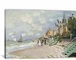 La Plage a Trouville 1870 By Claude Monet Canvas Print #1052