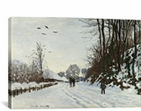 La Route De La Ferme Saint-Simeon En Hiver 1867 By Claude Monet Canvas Print #1051
