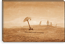 Landscape with Graves By Caspar David Friedrich Canvas Print #15030