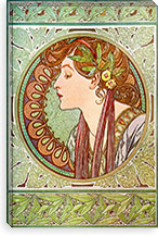 Laurel, 1901#2 By Alphonse Mucha Canvas Print #15212