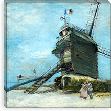 Le Moulin de la Galette By Vincent van Gogh Canvas Print #14361