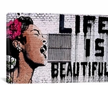 Life Is Beautiful By Banksy Canvas Print #2055