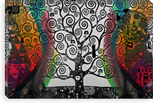 Life Tree in Negatives #2 Canvas Print #UVP36b