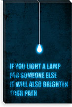 Light a Lamp By Budi Satria Kwan Canvas Print #13809