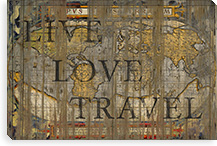 Live Love Travel By Maximilian San Canvas Print #MXS15