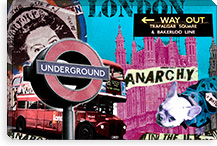 London Canvas Print #1 By Luz Graphics Canvas Print #LUZ43
