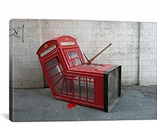 London Phone Booth By Banksy Canvas Print #2160