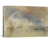 Looking Towards the Dogana and San Giorgio Maggiore, With a Storm Approaching, Venice 1834 by William Turner Canvas Print #1204