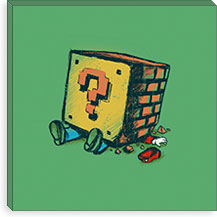 Loose Brick By Budi Satria Kwan Canvas Print #13810