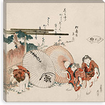 Lost-Love Shell (Katashigai) By Katsushika Hokusai Canvas Print #13693