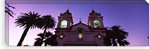 Low angle view of a cathedral lit up at night, Portuguese Cathedral, San Jose, Silicon Valley, Santa Clara County, California, USA #PIM6417