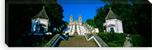 Low angle view of a cathedral, Steps of the Five Senses, Bom Jesus Do Monte, Braga, Portugal #PIM935