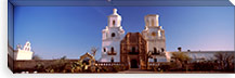 Low angle view of a church, Mission San Xavier Del Bac, Tucson, Arizona, USA #PIM8635