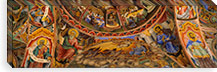 Low angle view of fresco on the ceiling of a monastery, Rila Monastery, Bulgaria #PIM5981