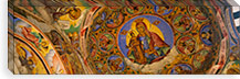 Low angle view of fresco on the ceiling of a monastery, Rila Monastery, Bulgaria #PIM5985