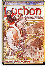 Luchon, Queen of the Pyrenees (1896) By Alphonse Mucha Canvas Print #15178