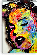 Marilyn Monroe II By Dean Russo Canvas Print #13533