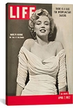 Marilyn Monroe Life Magazine Cover Vintage Poster Canvas Print #5058